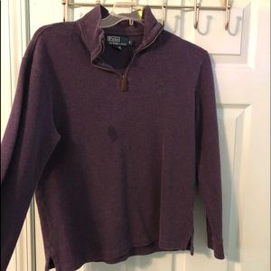 purple polo pullover